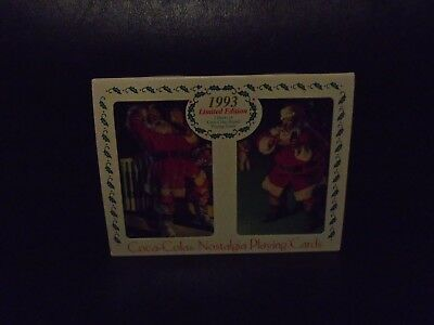 Nib 1993 Limited Edition Coca-Cola Nostalgia Playing Cards 2 Decks In Tin