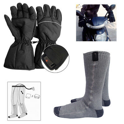 1Pair Battery Heated Hot Boot Socks Feet Foot Warmer Electric Heater With Gloves