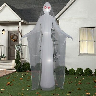 12ft Giant Female Ghost Airblown Inflatable Halloween Spooky Yard Decoration LED