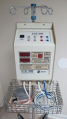Zimmer ATS 1500 Tourniquet System with Hoses, Cuffs, New Battery, and IV Pole