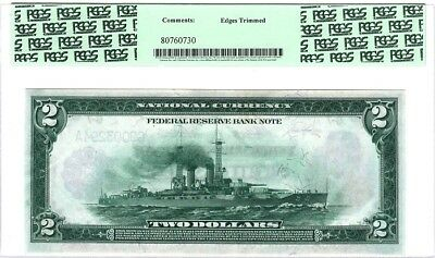 """$2  1918, FED. RES. NOTE, """"BATTLESHIP"""",  CHICAGO, Fr#767,  PCGS 62, NEW"""