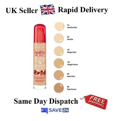 !RRP£9.99! Bourjois Healthy Mix Serum Foundation-Choose Your Shade-Fruit Therapy