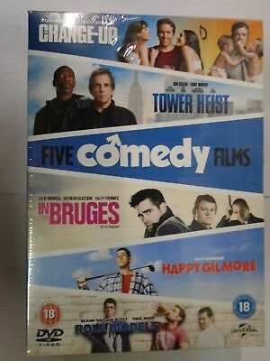 Change-Up/Tower Heist/Happy Gilmore/In Bruges/Role Models [DVD] NEW & SEALED, B8