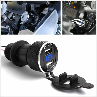 4.2A Motorcycle Bike Dual USB Charger New For BMW F800GS F650GS F700GS R1200GS