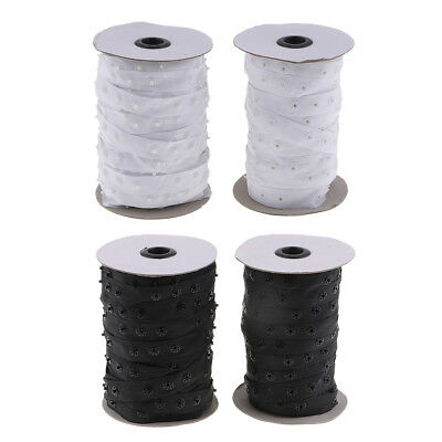 50 Yards 18mm Invisible Snap Buttons Tape Fasteners Sewing Clothing Accessories