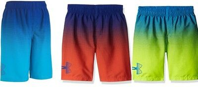 Under Armour Youth Boys Heatgear Youth Angle Drift Volley Swim Shorts New