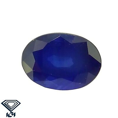 IGI certified Blue Sapphire 1.18ct Neelam Natural Loose Gemstones.