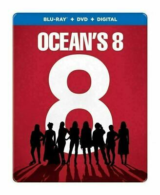 Ocean's 8 - Limited Steelbook (Sunrise Exclusive) [Blu-ray+DVD] New!!