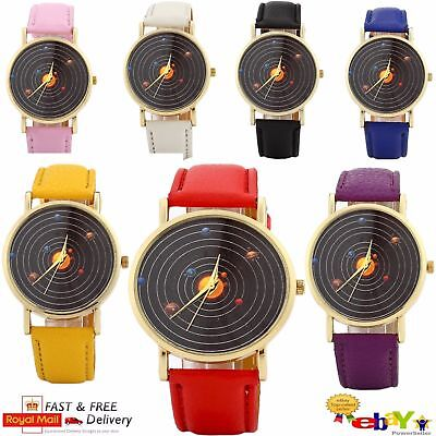 Womens Wrist Watch Girls PU Leather Quartz Casual Fashion GT Dial Sports UK
