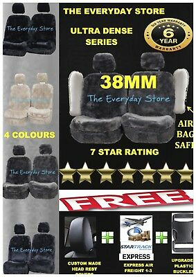 Ultra Dense Sheepskin (Lambswool) Car Seat Covers 38mm Airbag Safe Super Sale