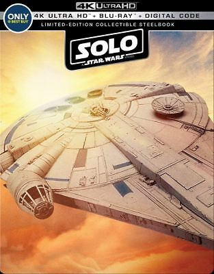Solo: A Star Wars Story - Limited Steelbook [4K+Blu-ray] New!!