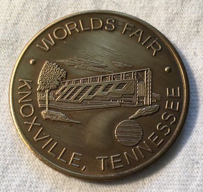Worlds Fair 1982 Knoxville, Tennessee United States Pavilion Medal With Case