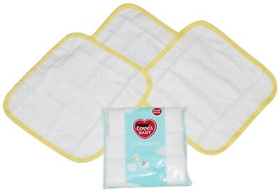 Baby Flannel 3 PACK Face Wash Cloth