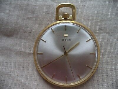 c15ebeac0 Tissot Gold Plated Pocket Watch 781-1 Running With Box 17J Very Clean