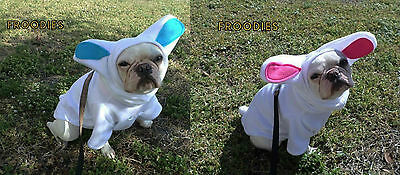 French Bulldog Boston Terrier Pug Dog Froodies Hoodies Easter Bunny Rabbit Coat