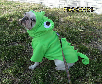 French Bulldog Boston Terrier Pug Dog Froodies Hoodies Costume Pascal Lizard