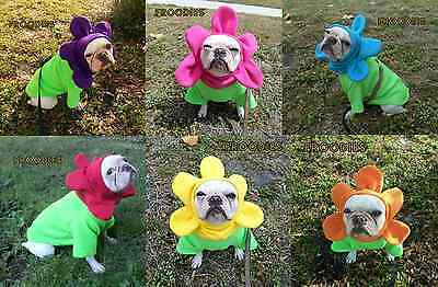 French Bulldog Boston Terrier Pug Dog Froodies Hoodies Cosplay Costume Flower