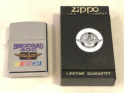 Zippo Lighter Indy BRICK YARD 400 Indianapolis Motor Speedway NASCAR Race NEW