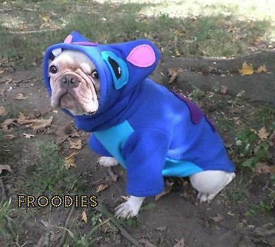 French Bulldog Boston Terrier Pug Froodies Hoodies Cosplay Costume Lilo Stitch