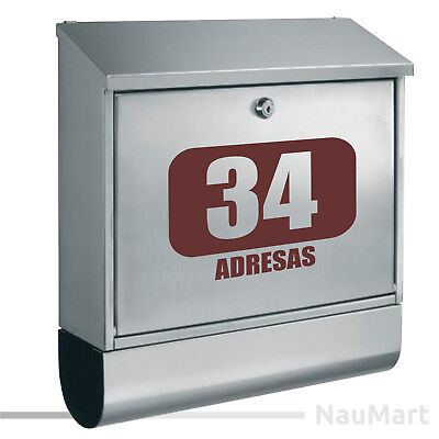 Simple CUSTOM NUMBER sticker for postbox post mail box ST056
