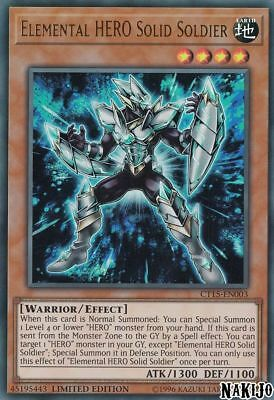 ( ELEMENTAL HERO SOLID SOLDIER ) - Ultra - CT15-EN003 - Limited - NM - Mega Tin