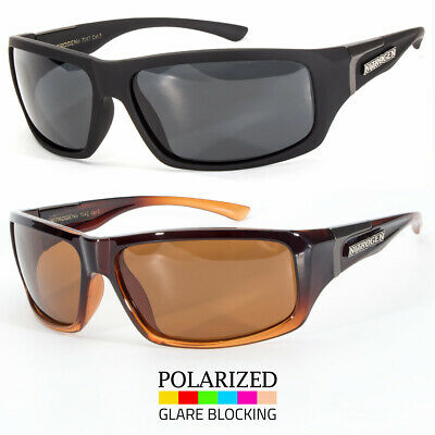 Wrap Around Polarized Sunglasses Mens Sport Running Fishing Golfing Driving Glas