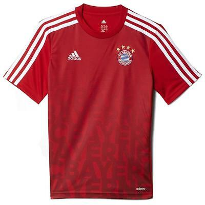 Bayern Munich Adidas Football pour Homme T-Shirt Slim Rouge Pre Match Pull-Over