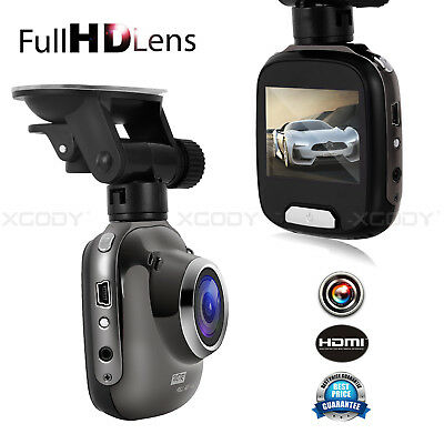 XGODY 2'' Dual Lens Car DVR HD 1080P Dash Cam Vehicle Dashboard Video Camera SD