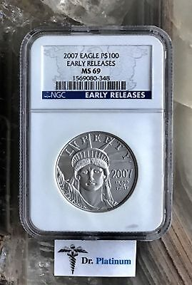2007 Eagle, US, NGC MS 69, Early Releases, 1 oz .9995 Platinum Coin - DPSPC7