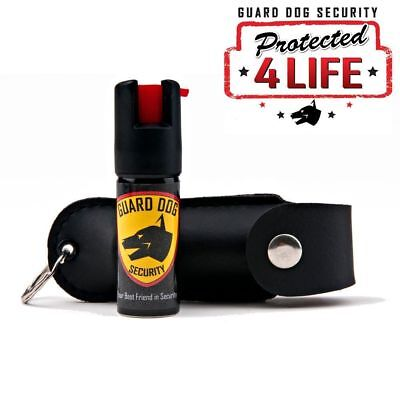 10 PACK Guard Dog Pepper Spray.1/2 Ounce Soft Case Pepper Spray Keychain - Black