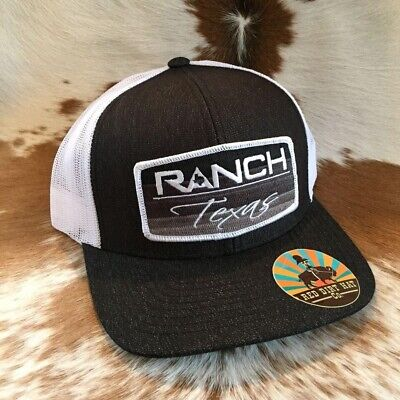 3660dd10a9b Red Dirt Hat Co. Ranch Texas Heather Black White Trucker Snapback Cap RDHC39