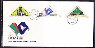 Lesotho 1967  - 1st Ann Independence  First Day Cover