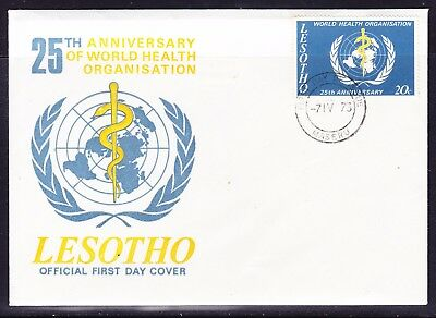 Lesotho 1973 World Health Organisation  25th Anniversary First Day Cover