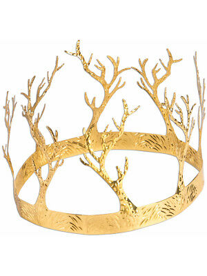 Adults Metallic Gold Medieval Fantasy King Antler Crown Costume Accessory