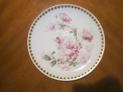 Haviland Limoges coupe luncheon plate, large roses