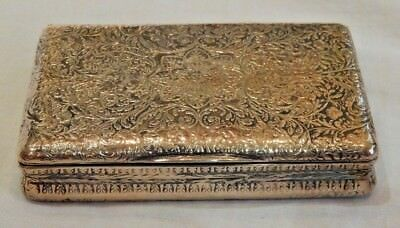 Antique Paris France Silver Miniature Box with Vermeil Interior