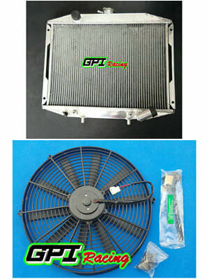 ALUMINUM RADIATOR &FAN For Mitsubishi Delica Express L300 Starwagon 86-07 50 mm
