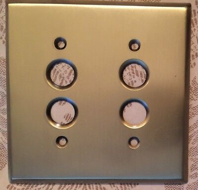 Push Button Light Switch Cover 2gang Brass Plate Architectural Salvage Remodel