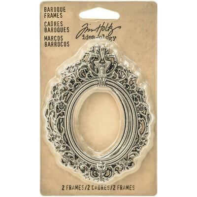 Tim Holtz Idea-Ology - Metal Baroque Frames - 2 Pieces
