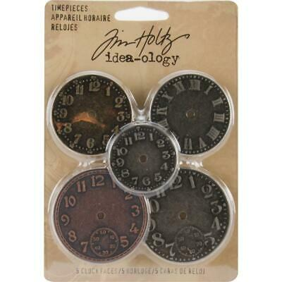 Tim Holtz Idea-Ology - TimePieces - 5 Clock Faces