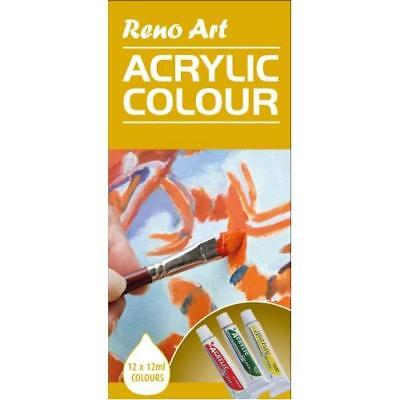 12 Tube 12ml Reno Art Gouache Colour Paint Set Art Supplies Painting GC-1212S