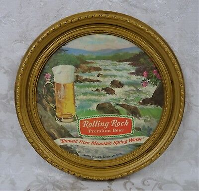 Vintage Rolling Rock Beer Advertising Bar Display Sign Nice 1978