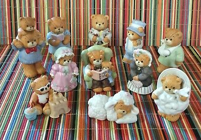 Lot Of 11 Vintage Lucy And Me Bears Figurines Enesco Lucy Rigg