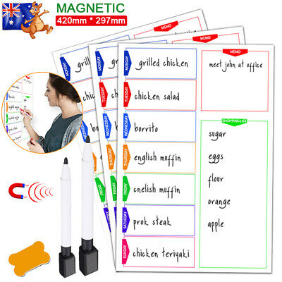 A3 Magnetic Whiteboard Family Office School White Board Planner Weekly +2 Marker