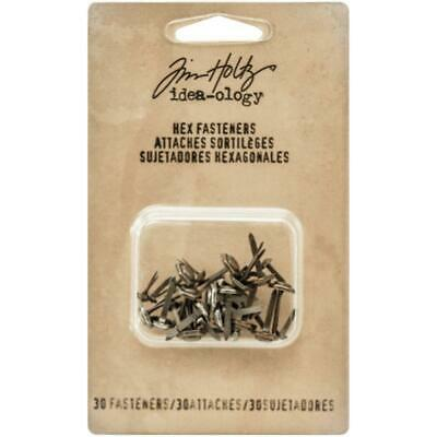 Tim Holtz Idea-Ology - Hex Fasteners - 30 Pieces