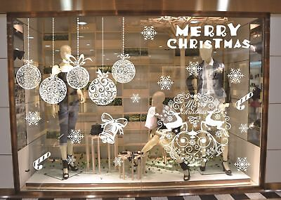 Christmas Window Sticker Removable Glass Wall Home Party Shop Xmas Decoration UK