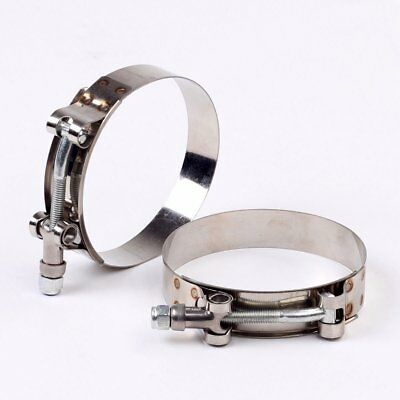 "2 x 1"" STAINLESS STEEL T-BOLT TURBO SILICONE HOSE CLAMP INTAKE INTERCOOLER"