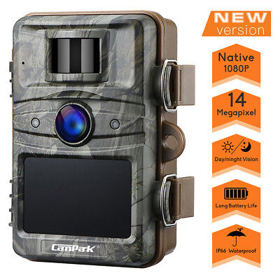 Trail Wildlife Camera 14MP FHD 1080P Game Hunting Cam Invisible Night Vision AU