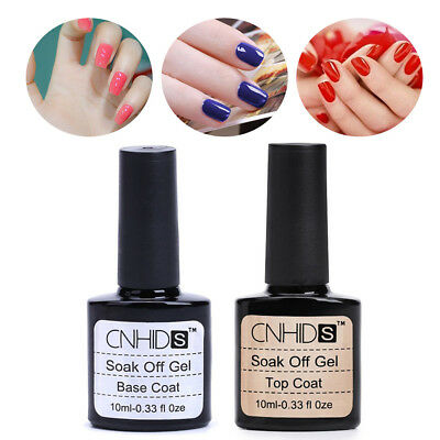 UV Gel Nail Polish Base and Top Coat Set Fast Dry No Wipe Top Coat Clear