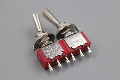 10Pcs SH 3Pin Flat Handle ON-ON Maintained Mini SPDT T8013-UHB Toggle Switch